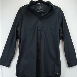 Black Brown 16.5 Black Dress Shirt